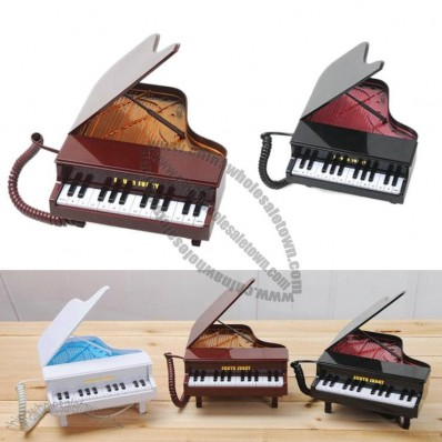 Innovative Piano Telephone with Call LED Light