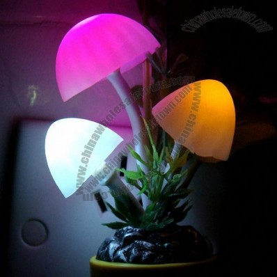 Intelligent Optical Control Sensor Mushroom Night Light