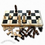 International Wooden Chess Set with Size of 34 x 17 x 3.5cm