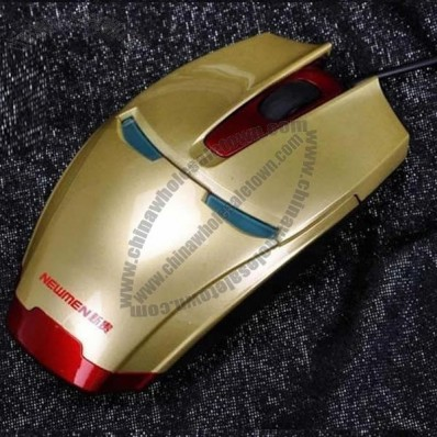 Iron Man Design Wired Optical LED Mouse