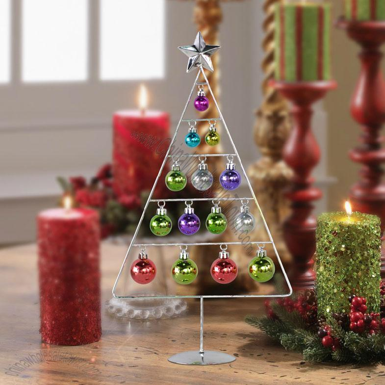 Iron Tabletop Christmas Tree Ornaments