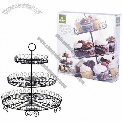 Iron Three Tiered Cup Cake Stand