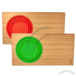 Island Bamboo Over the Sink Cutting Board with Silicone Colandar