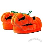 Jack O'Lantern Plush Slippers