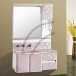Jade Bathroom Cabinet with Whole Microlite Material