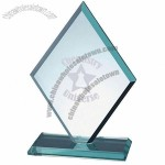 Jade Glass Beveled Diamond Award