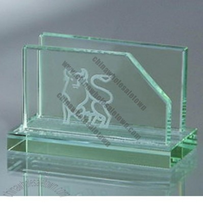 Jade Glass Business Card Holder