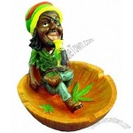 Jamaican Man Crossing Legs Ashtray