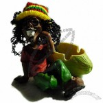 Jamaican Man Resin Ashtray