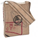 Java Recycled Jute/Burlap Hippie Bag