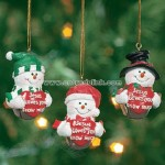 """Jesus Loves You Snow Much"" Jingle Bell Ornaments"