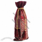 Jeweled Crimson Wine Bag