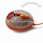 Jeweled Egg-shaped Optical Mouse