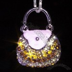 Jeweled Handbag Style Necklace USB Flash Drive