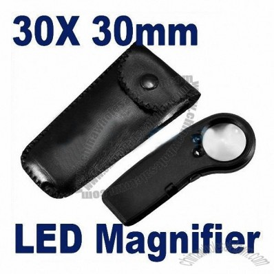 Jewellery Magnifier with LED and Leather Case