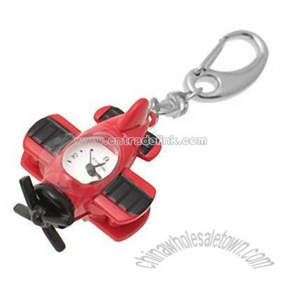 Jewelry Airplane Key Chains Quartz Pocket Watch Red