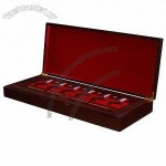 Jewelry Box, Red Inlay, Six Holes For Medals