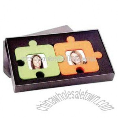 Jigsaw puzzle shaped photo frames