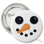Jolly Snowman Face Button