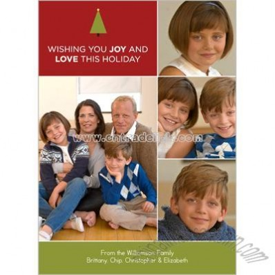 Joy and Love Holiday Card