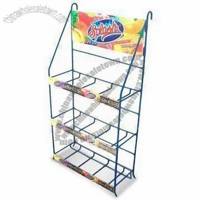 Juice Bottle Display Rack