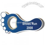 Jumbo size foot shape magnetic bottle opener