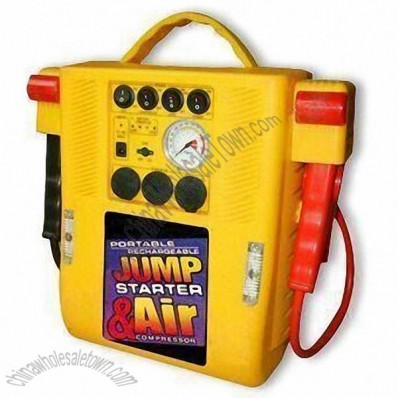 Jump Starter with 260psi Compressor, Overload Protection and 15A Maximum Current