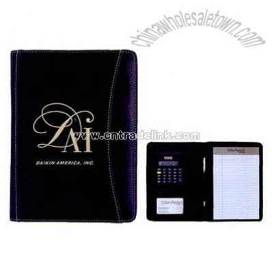 Junior executive calculator padfolio