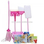 Just Like Home Deluxe Cleaning Set - Pink