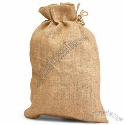 Jute Burlap Drawstring Bag 14 x 10 Christmas Holiday Gift Bags