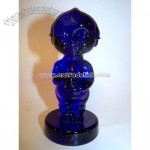 Kewpie Figurine, Cobalt Blue Glass