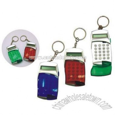 Key-Chain 8 digit Calculator With flip cover