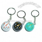 Key Chain With Compass Ball