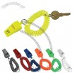 Key Chain With Whistle And Coil Wristband