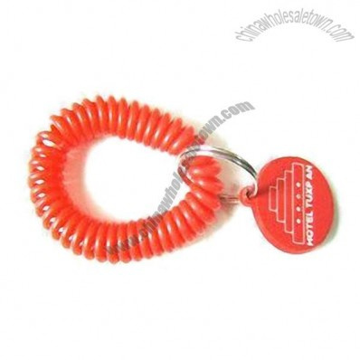 Key Holder with Spiral String and ID Sheet