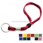 Key chain lanyard with tubular lace polyester cord