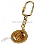 Key chain with 3D sports ball spinner