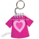 Key chain with t-shirt shaped notepad