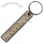 Key holder with miniature ruler