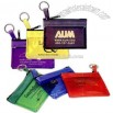 Key ring zippered translucent pouch neatly stores coins