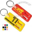 Key tag with flip top can opener