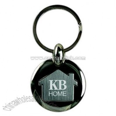 Key tag with inlaid house