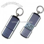 KeyChain with Mini LCD Calendar Clock