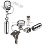 Keychain Pill Fob with Mini Container