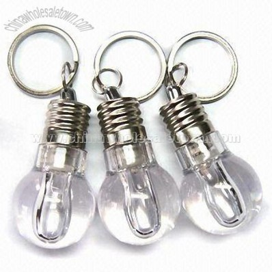 Keychain in Bulb Shape LED Light