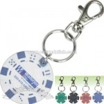 Keychain with 11.5g poker chip