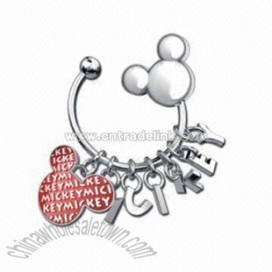 Keychain with Mickey Mouse Design