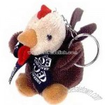 Keychain with various animal toys