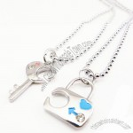 Keylock couple necklace