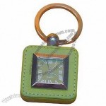 Keyring Leather Clock